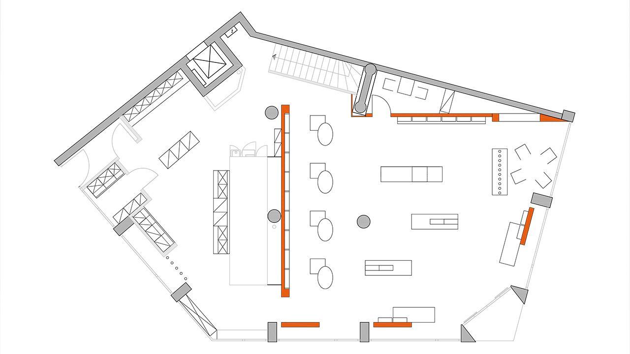 Grundriss der Apothekeneinrichtung © 2020 huebbers.com
