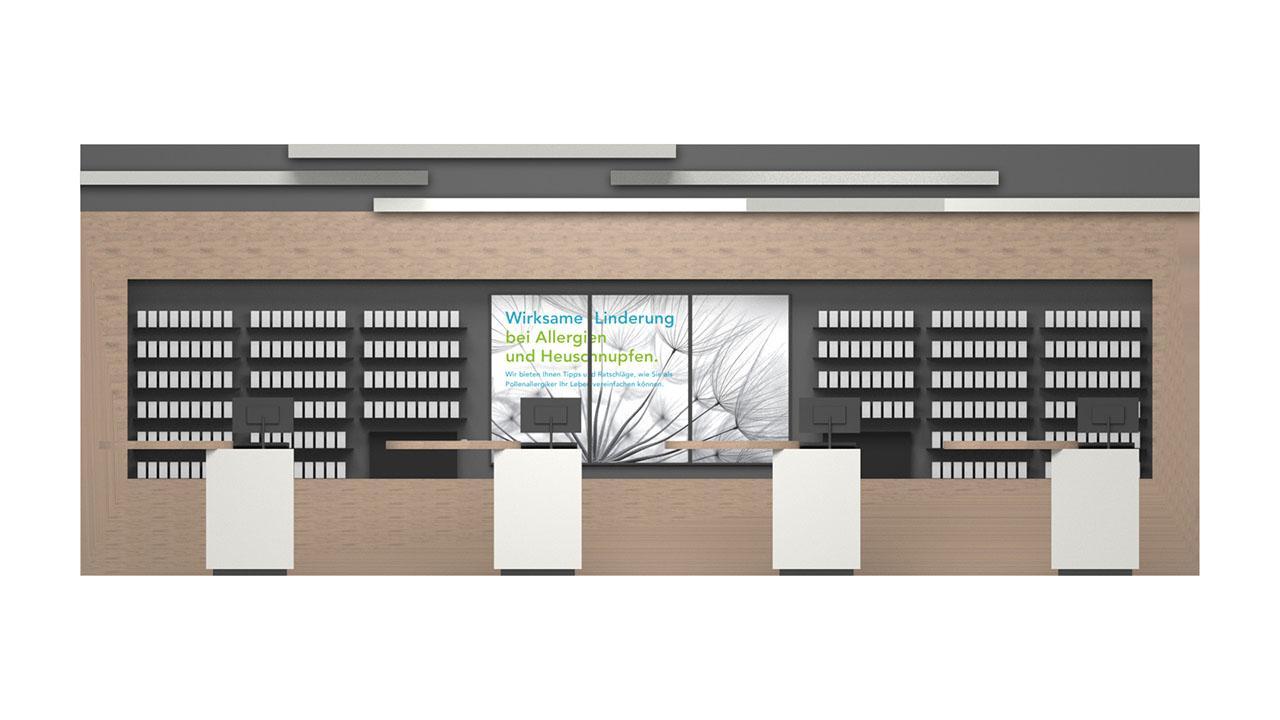 Die Sichtwahl und Arbeitsfläche der Handverkaufstische harmonieren optimal © 2020 huebbers.com